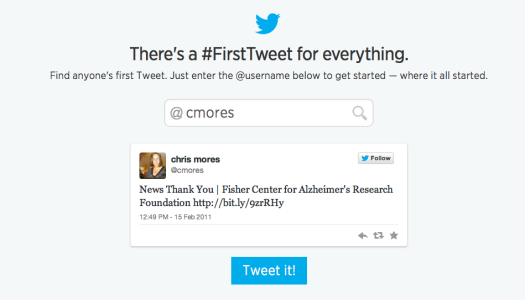 Discover your first tweet